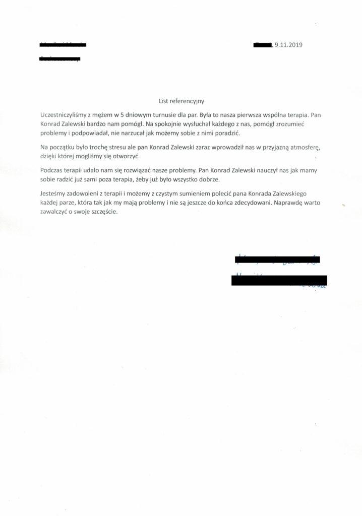 opinia referencje 7 Konrad Zalewski terapia par i małżeństw