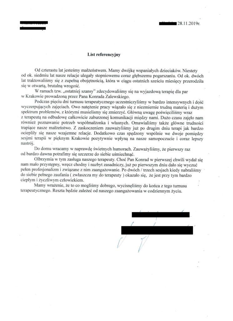 opinia referencje 8 Konrad Zalewski terapia par i małżeństw